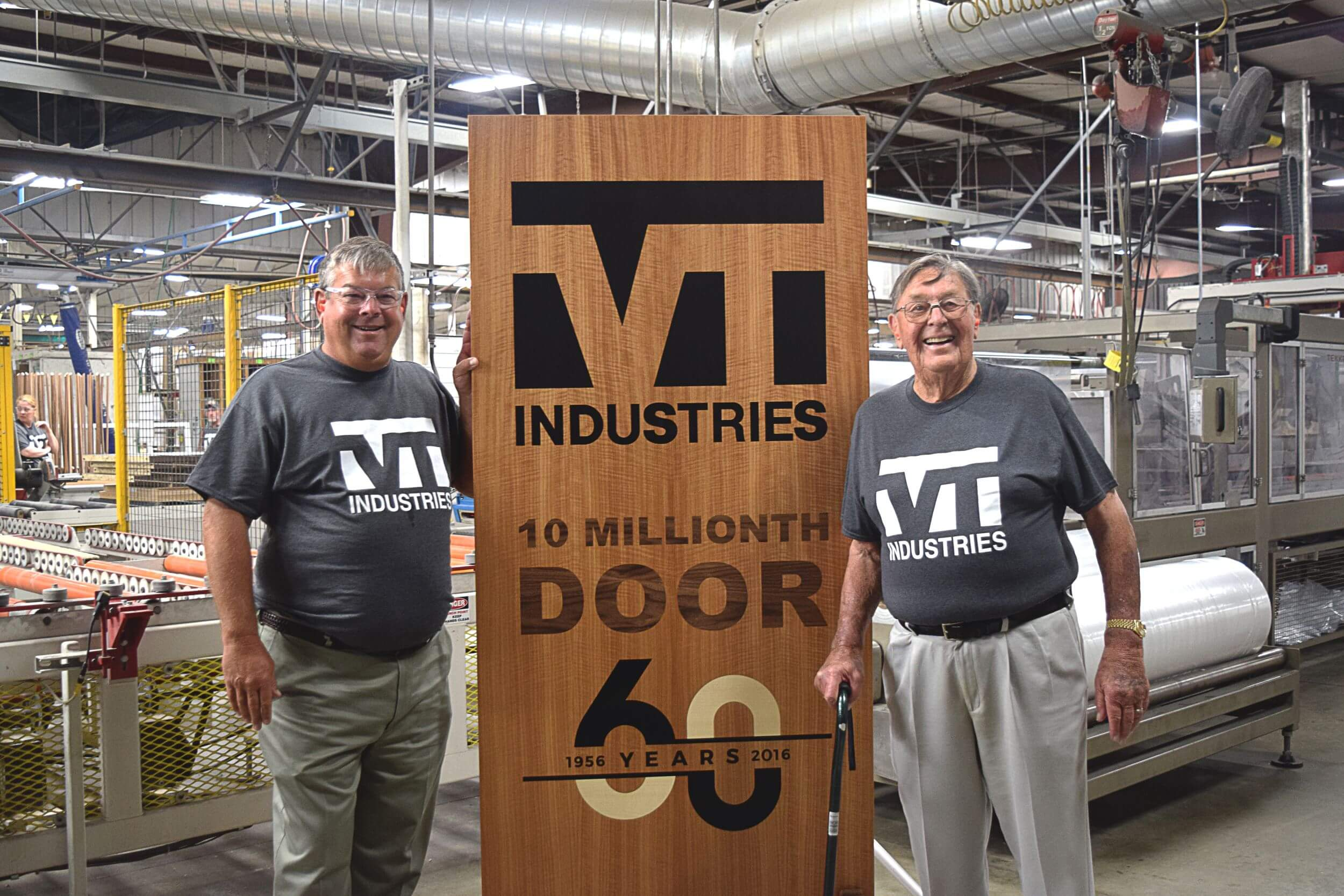 Roger & Doug Clausen with 10 millionth door