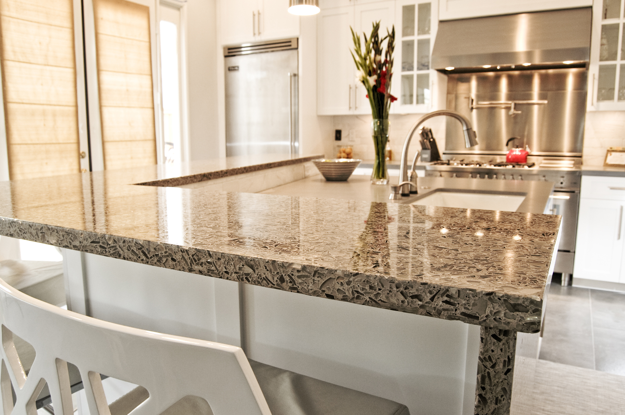 strength depot gives countertops counter lowes bay and hampton home block quartz butchers recycled top countertop your style rigidity cabinets shaker kitchen butcher reclaimed glass