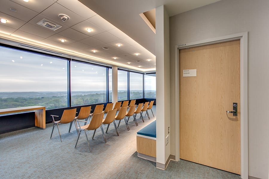 VT Industries High Pressure Decorative Laminate Doors shown in the Meditation Room