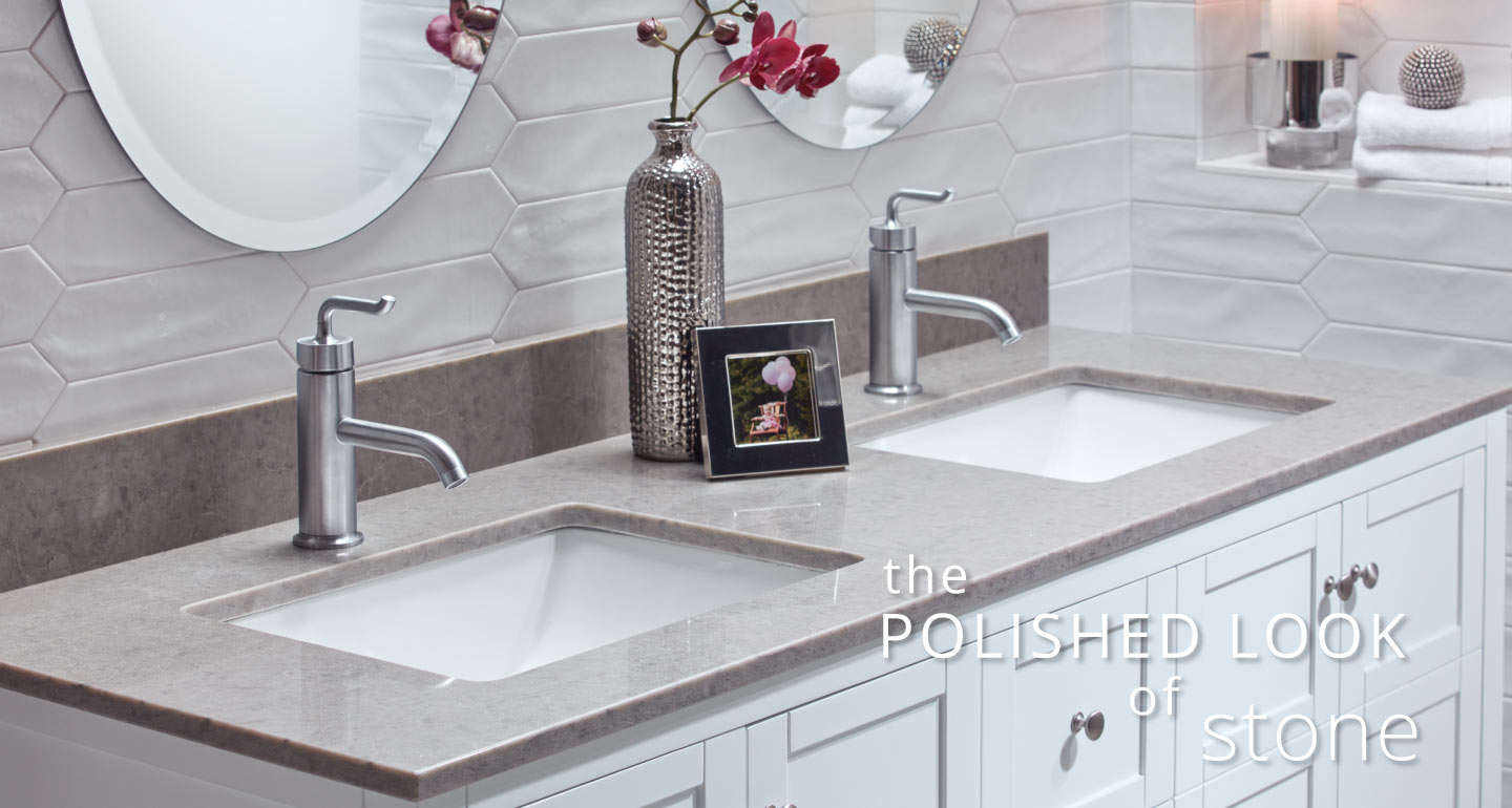 The Polished Look of Stone - Bathroom