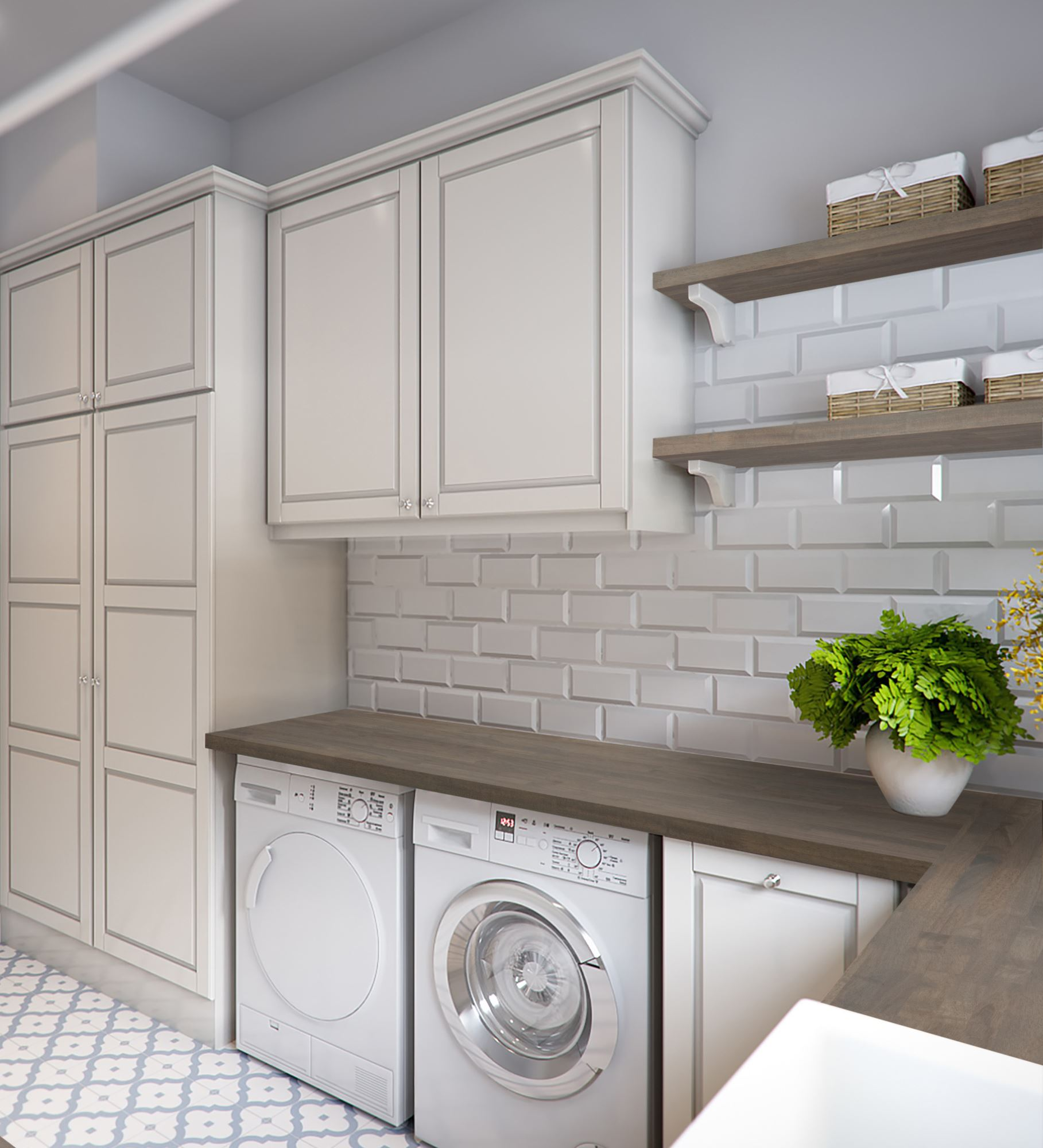 CenterPointe Laundry Room, Acacia Grey Stain